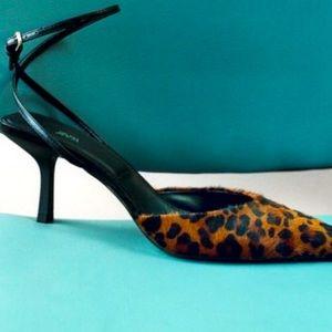 ZARA Animal Print Leather High Heeled Shoes